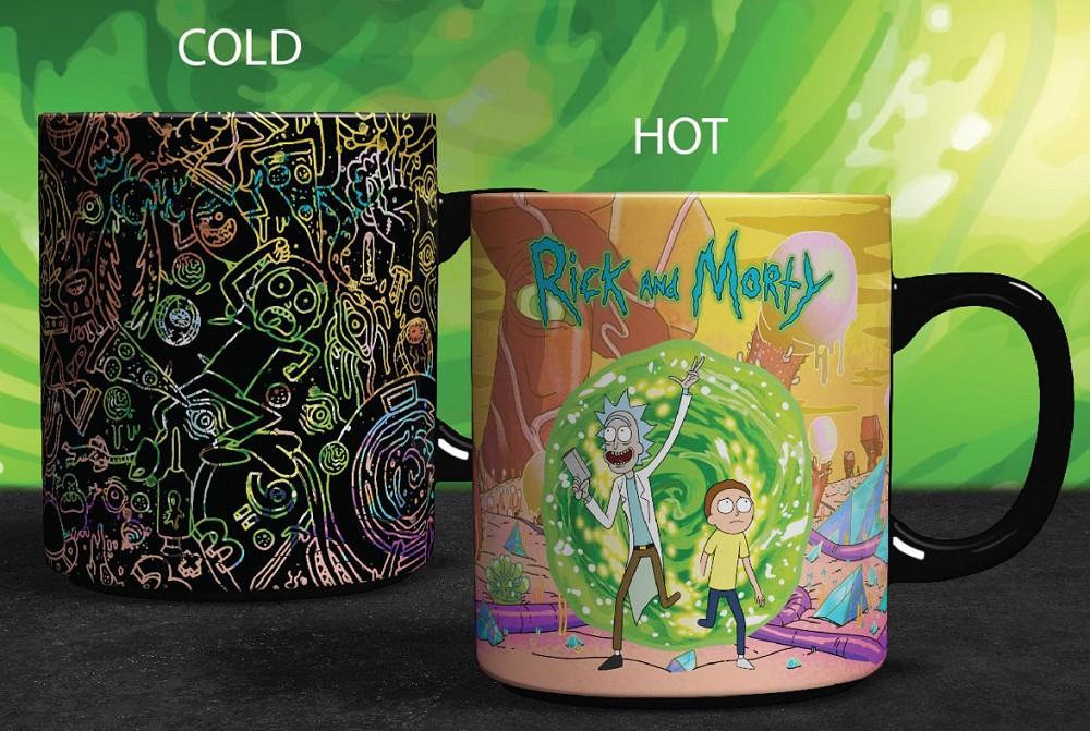 Hrnek Rick and Morty - Portals Heat Change (PC)