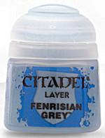 Citadel Base Paint - základní barva, šedá (Fenrisian Grey)  (PC)