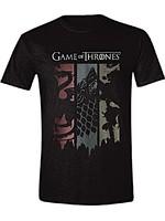 Tričko Game of Thrones - Sigils Banner (velikost XL)