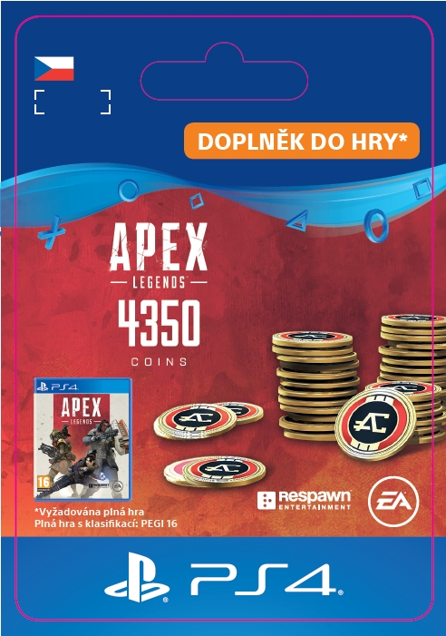 Apex Legends - 4,000+350 Bonus Apex Coins (PS4 DIGITAL)