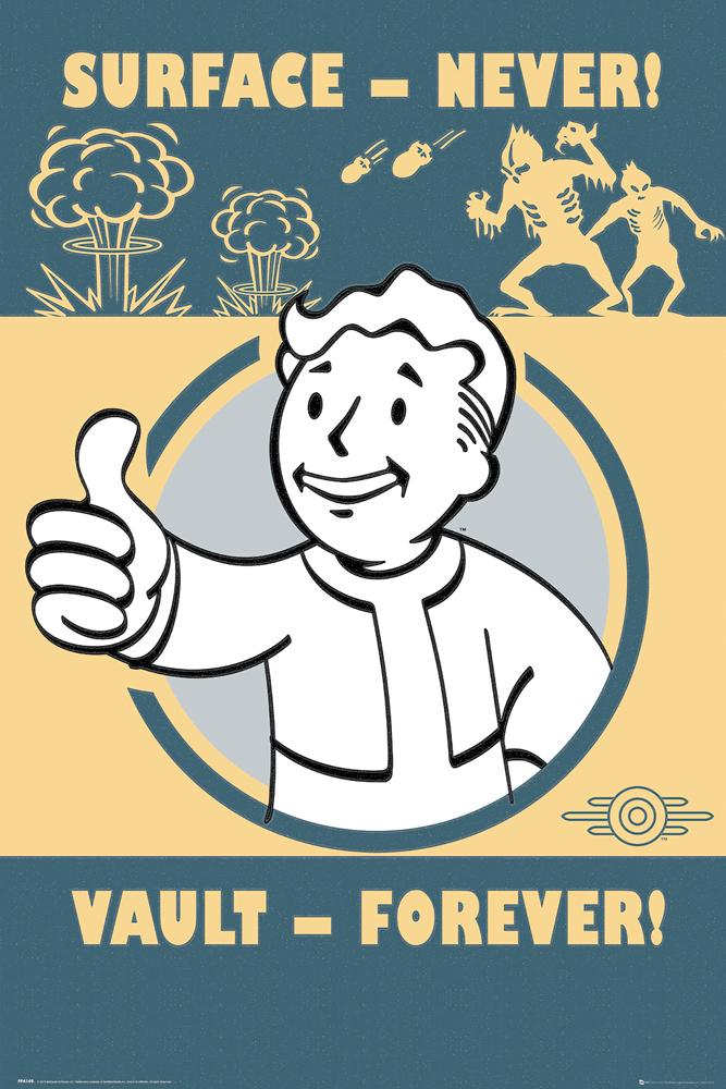 Plakát Fallout - Vault Forever (PC)