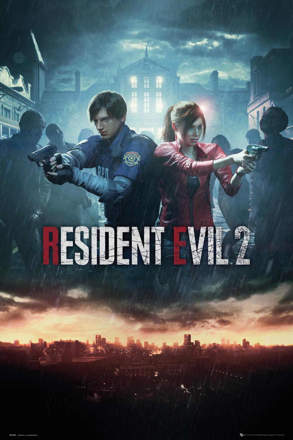 Plakát Resident Evil 2 - City Key Art