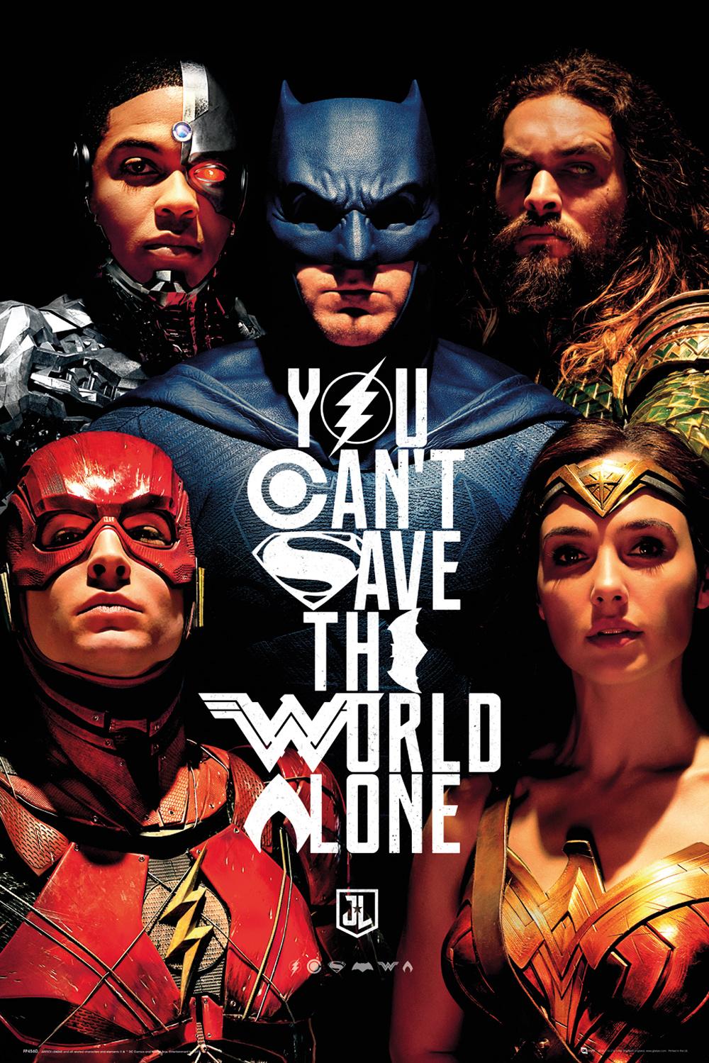Plakát Justice League - Faces (PC)