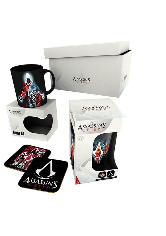 Dárkový set Assassins Creed - hrnek, sklenice, podtácky (PC)