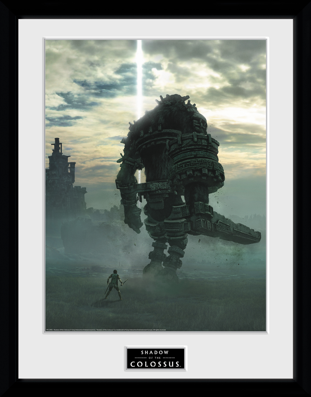 Zarámovaný plakát Shadow of the Colossus - Key Art (PC)