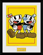 Zarámovaný plakát Cuphead - Cuphead and Mugman