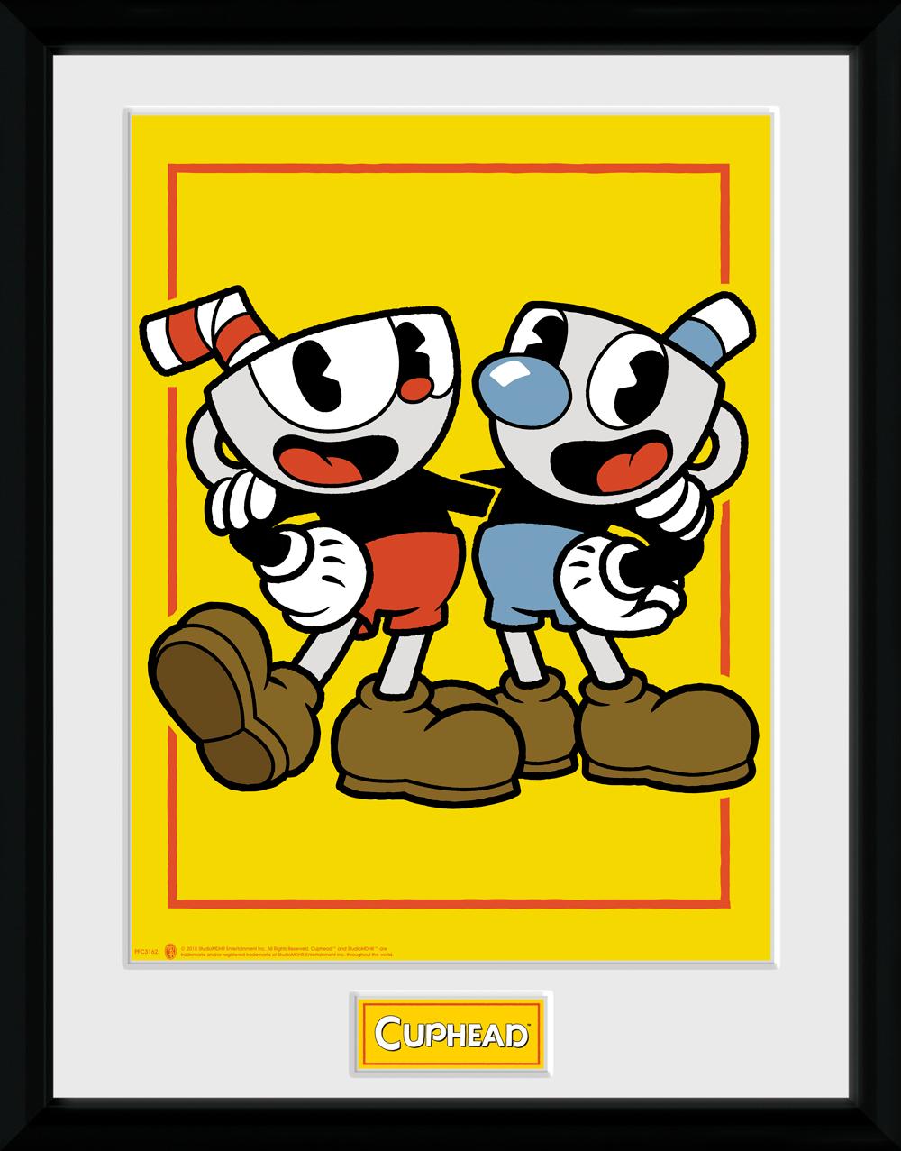 Zarámovaný plakát Cuphead - Cuphead and Mugman (PC)