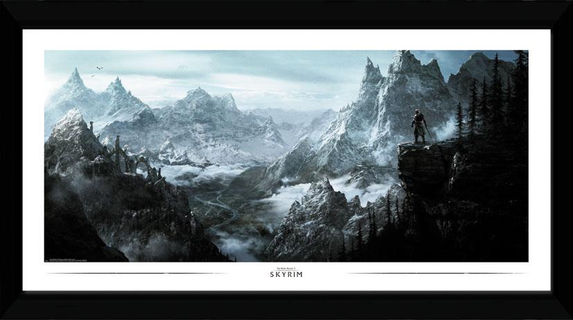Zarámovaný plakát Skyrim - Vista (PC)