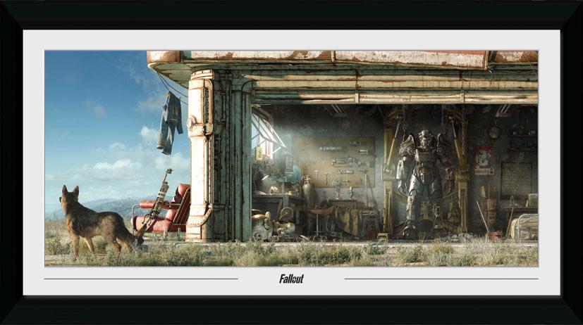 Zarámovaný plakát Fallout - Garage (PC)