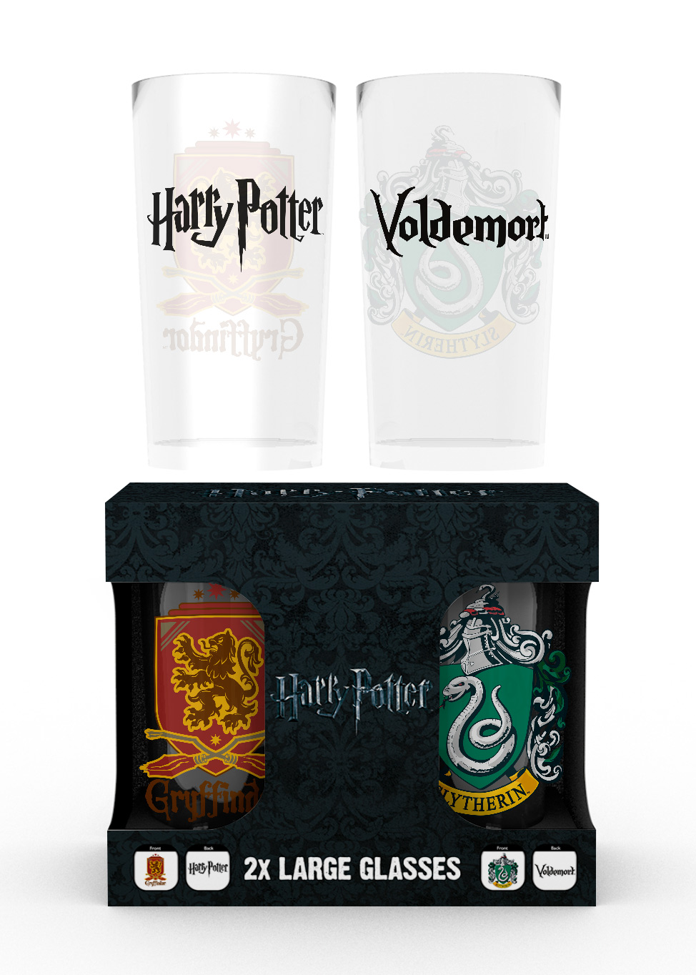 Sklenice Harry Potter - Erby (set 2 ks) (PC)