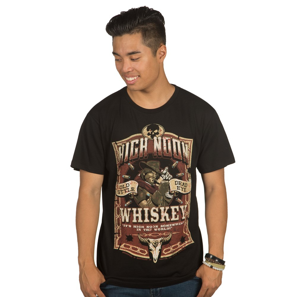 Tričko Overwatch - High Noon Whiskey (americká vel. XL / evropská XXL)  (PC)