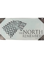 Skleněný plakát Game of Thrones - The North Remembers