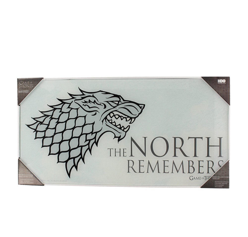 Skleněný plakát Game of Thrones - The North Remembers (PC)