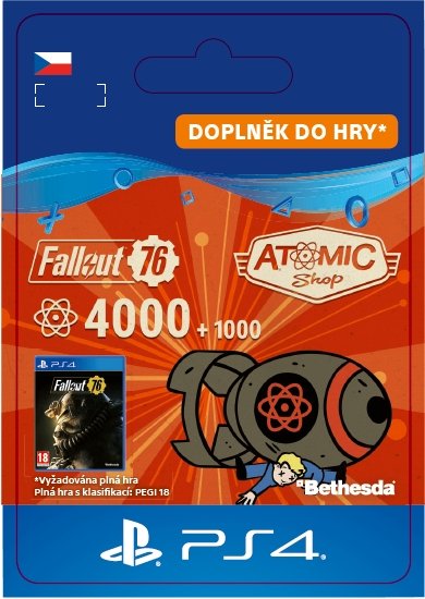 Fallout 76: 4000 (+1000 Bonus) Atoms (PS4 DIGITAL)