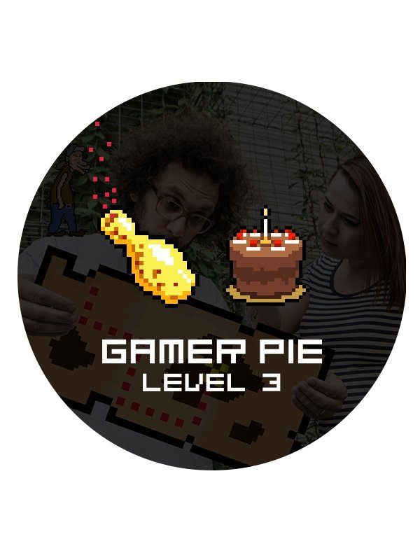 Odznak Gamer Pie - Level 3 (37mm) (PC)