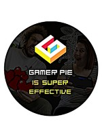 Odznak Gamer Pie - Super Effective (37mm)