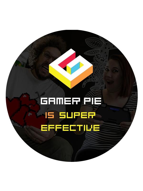 Odznak Gamer Pie - Super Effective (37mm) (PC)