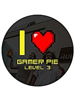 Odznak Gamer Pie - I Love Gamer Pie (56mm)