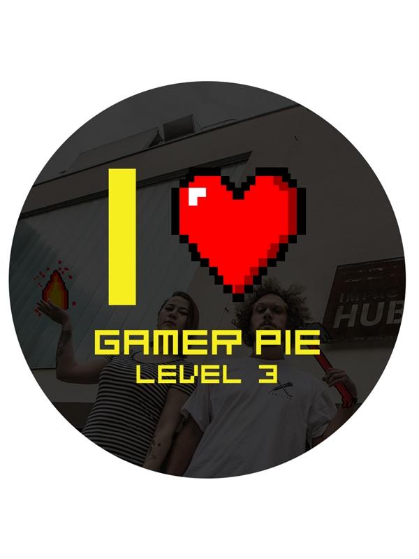 Odznak Gamer Pie - I Love Gamer Pie (56mm) (PC)
