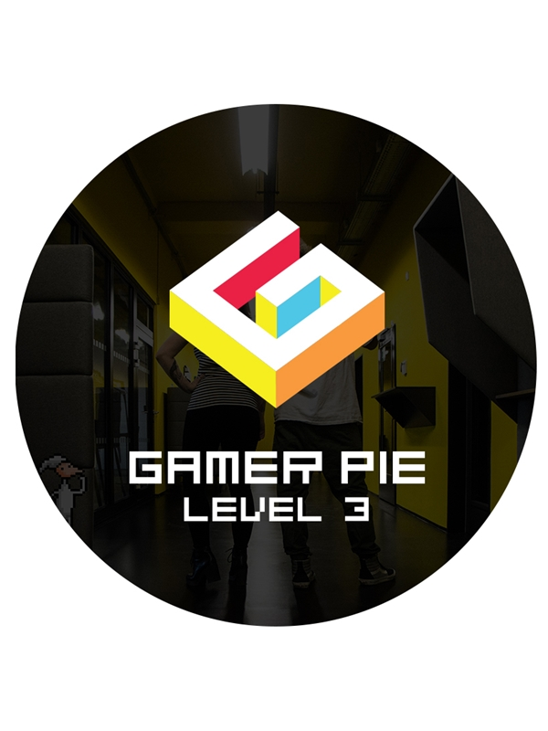 Odznak Gamer Pie - Level 3 (56mm) (PC)