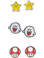 Náušnice Super Mario - 3 páry náušnic (Boo, Superstar a Mushroom)