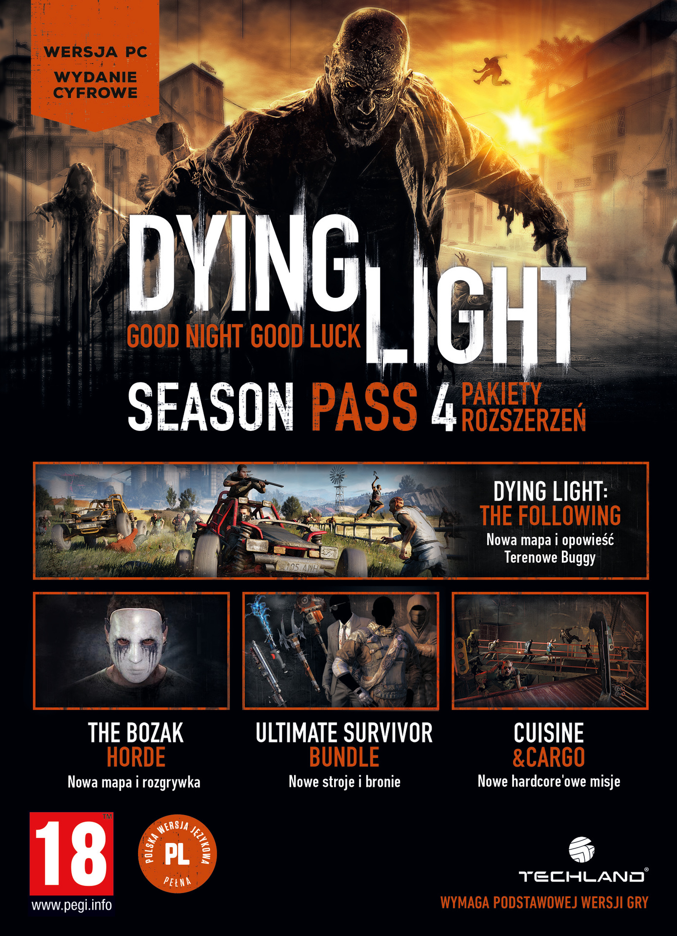 Dying Light : Season Pass (PC) Klíč Steam (PC)