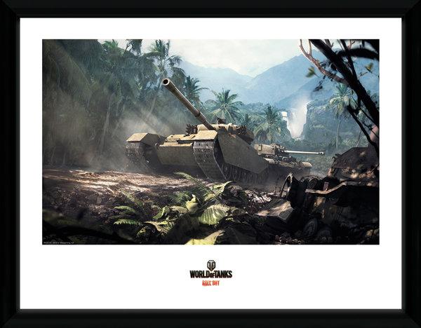 Zarámovaný plakát World of Tanks - Forest Tank (PC)