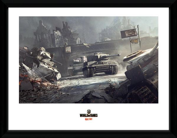 Zarámovaný plakát World of Tanks - German Tank (PC)