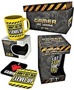 Dárkový set Gamer at Work - hrnek, sklenice, podtácky