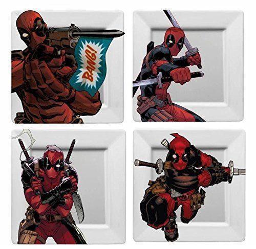 Talíře Deadpool - BANG! (sada 4 kusů) (PC)