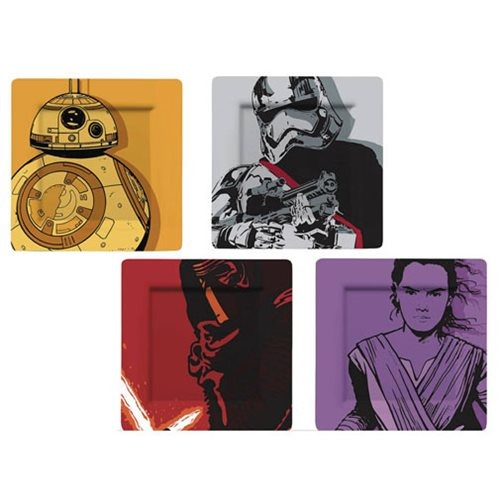 Talíře Star Wars - BB-8, Rey, Kylo Ren a Phasma (sada 4 kusů) (PC)