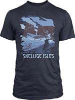 Tričko Zaklínač - See the Skellige Isles (americká vel. M / evropská L)