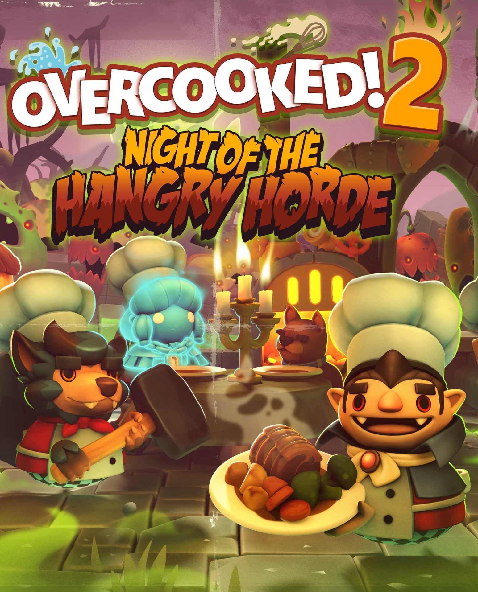 Overcooked! 2 - Night of the Hangry Horde (PC) Klíč Steam (PC)
