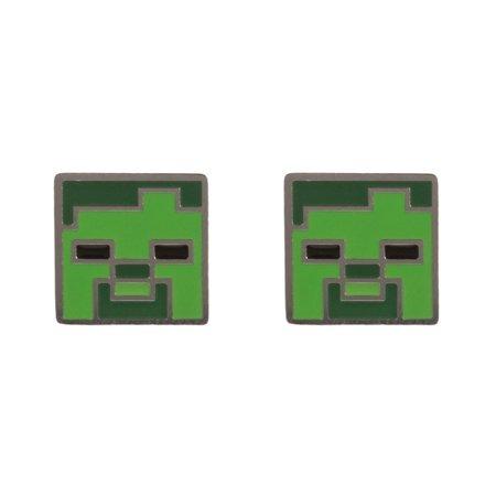 Náušnice Minecraft - Zombie Stud (PC)