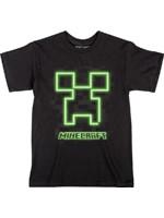 Tričko dětské Minecraft - Neon Creeper Face