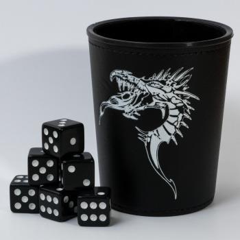 Pohár na kostky - Dragon Emblem (+ 6 kostek) (PC)