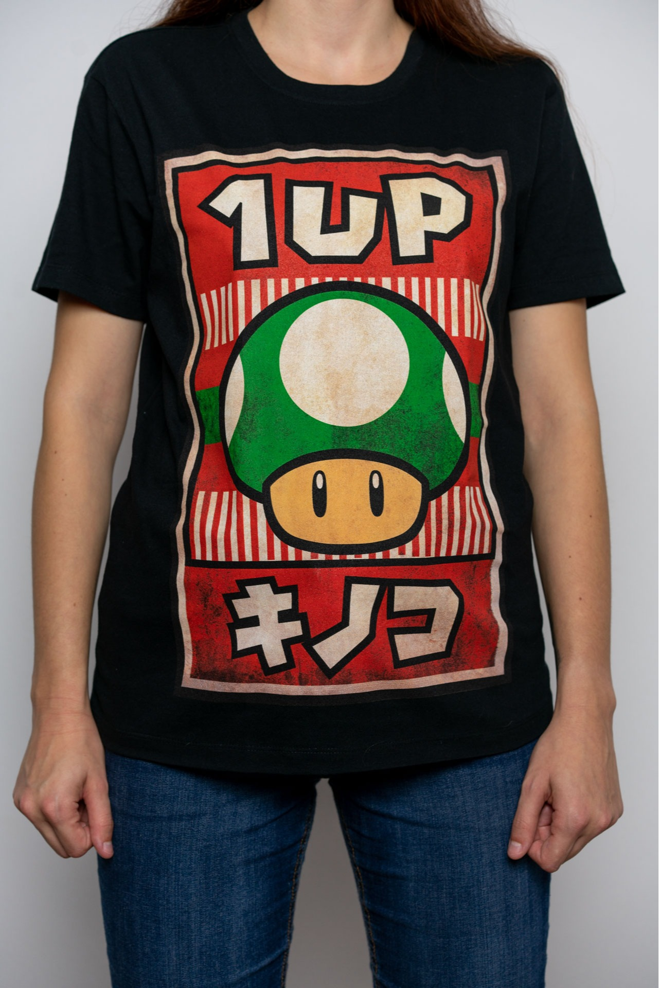 Tričko Nintendo - Propaganda Poster 1-UP Mushroom (velikost L) (PC)