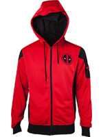 Mikina Deadpool - Red and black (velikost XL)