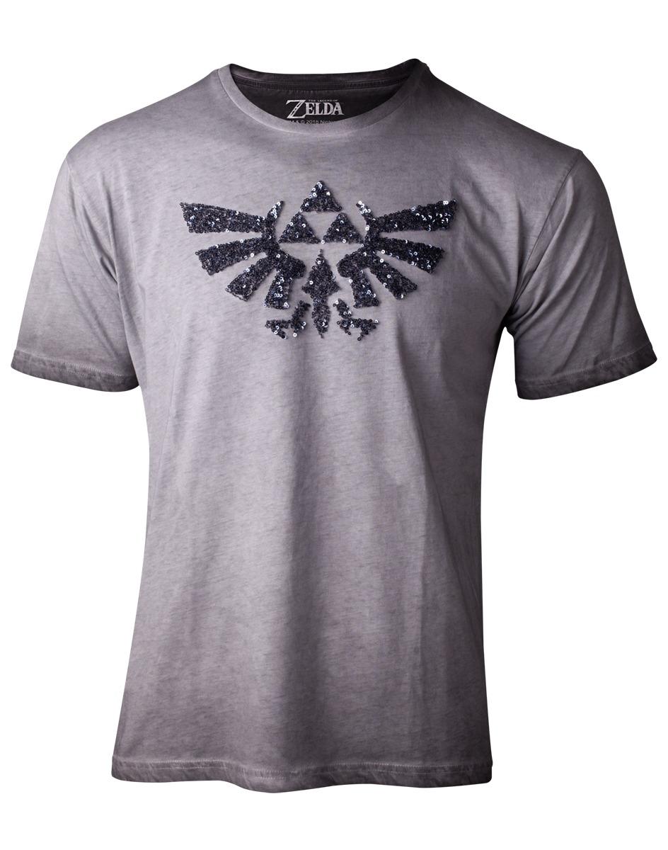 Tričko dámské The Legend of Zelda - Silver Sequins (velikost M)