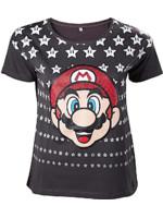 Tričko dámské Super Mario - Mario with Stars