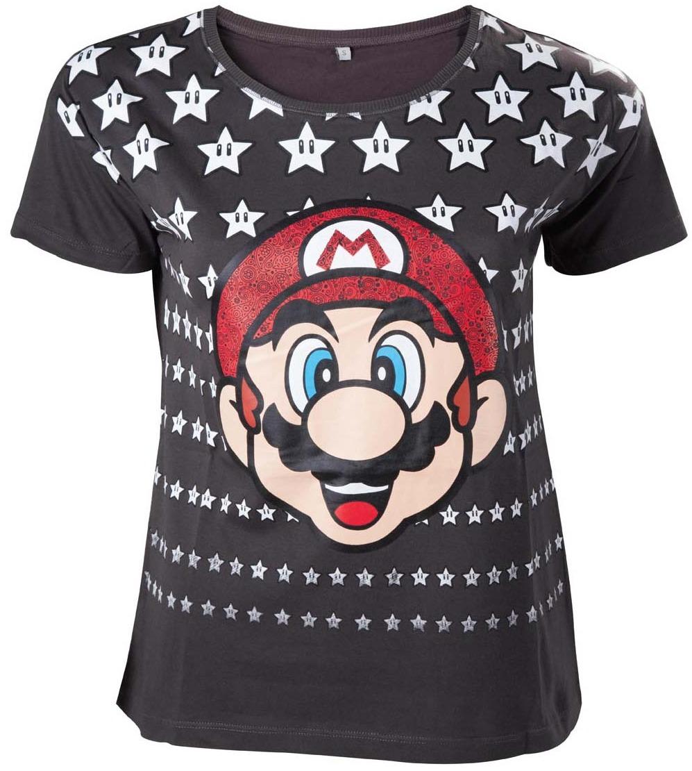 Tričko dámské Super Mario - Mario with Stars (velikost S) (PC)