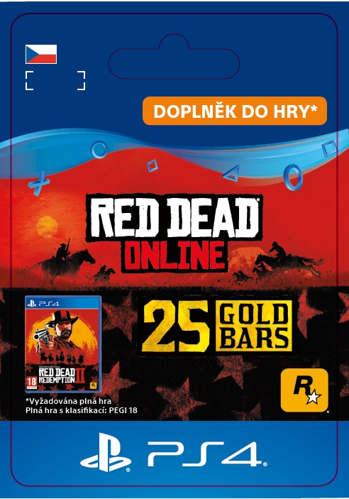Red Dead Online: 25 Gold Bars (PS4 DIGITAL) (PS4)