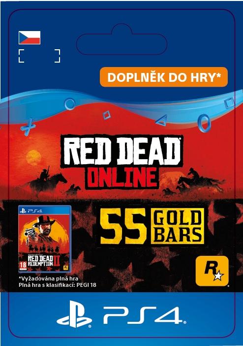 Red Dead Online: 55 Gold Bars (PS4 DIGITAL)