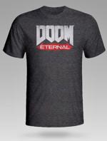 Tričko Doom: Eternal - Logo, tmavě šedé