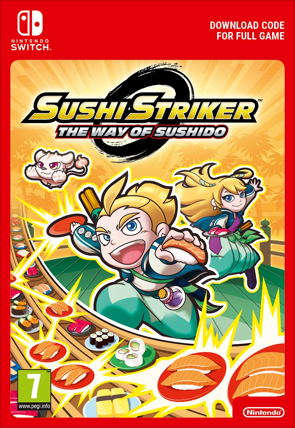 Sushi Striker: The Way of Sushido (Switch DIGITAL) (PC)