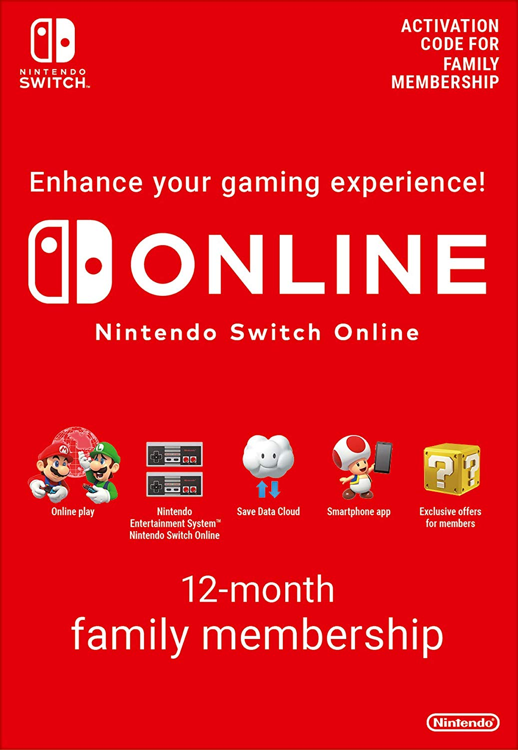 365 Days Switch Online Membership (Family) (SWITCH)