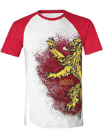 Tričko Game of Thrones - Lannister Painted Raglan