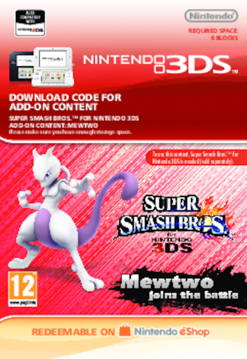 Super Smash Bros.: Mewtwo (3DS) DIGITAL (PC)