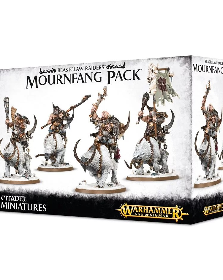 W-AOS: Beastclaw Raiders - Mournfang Pack (4 figurky) (PC)