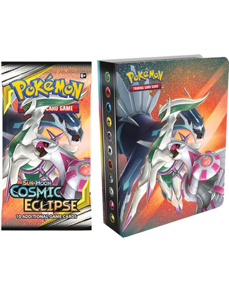 Karetní hra Pokémon TCG: Cosmic Eclipse - Mini Album + booster (10 karet) (PC)